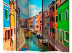 Paraván -  Colorful Canal in Burano II [Room Dividers]